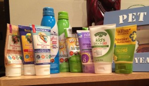 Collection of Sunscreen: All Natural