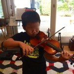 Ethan with violin 2